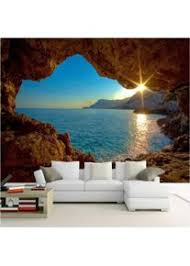 hwhz benutzerdefinierte fototapete 3d höhle sonnenaufgang