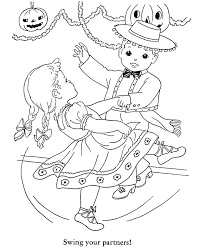 Halloween Party Coloring Page Sheets