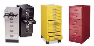 Best of Three Small Metal Filing Cabinets