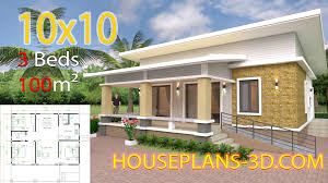 104 Housedesign House Design 10x10 With 3 Bedrooms Full Interior House Plans 3d