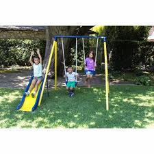 Swing Set Playground Metal Swingset Outdoor Play Slide Kids ... Landscaping Ideas Kid Friendly Backyard Pdf And Playgrounds Playground Accsories A Sets For Amazoncom Metal Swing Set Swingset Outdoor Play Slide For Children Round Yard Kids Free Images Grass Lawn Summer Young Park Backyard Playing Home Decor Design Steel Discovery Prairie Ridge All Cedar Wood With Patio Area And Stock Photo Refreshing Your Kids Carehomedecor Fun Ways To Transform Your Into A Cool Weston Walmartcom Backyards Bright Small Cream