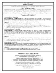 Example Nurse Practitioner Resume Free Sample