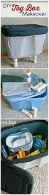 Decorating Fabric Storage Bins by Diy Toy Box Makeover Diy Toy Box Plastic Bins And Diy Toys