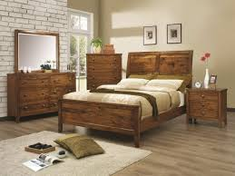 Rustic Bedroom Design Ideas Dark Brwon Wooden Furniture Set