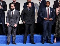 HOLLYWOOD CALIFORNIA APRIL 12 Actors Paul Rudd Sebastian Stan And Anthony Mackie Attend The World Premiere Of Marvels Captain America Civil War At