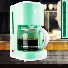 Coffee Maker 15 Cups Warm Keeping Filter Brew Machine Glass Pot Mint Green