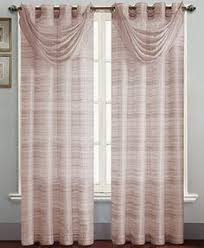 Brylane Home Lighted Curtains by Crushed Taffeta Scarf Valance U0026 Rod Pocket Panel Curtains