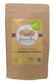 friendlymuffins bio muffins backmischung vegan glutenfrei weizenfrei ohne zuckerzusatz lower carb laktosefrei kalorienreduziert banane