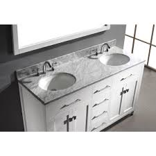 Mesa 48 Inch Double Sink Bathroom Vanity by Home Depot White Vanity With Marble Top Home Vanity Decoration