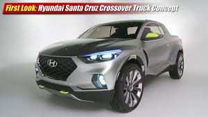 100 Hyundai Truck First Look Santa Cruz Crossover Concept TestDrivenTV