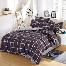 Home Bedding Sets Winter and Spring Stripe Flat Bed Sheet Dark