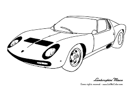Cars Printable Coloring Pages Lamborghini Car