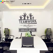 Office Wall Stickers Vinyl Decal Art Mural Decor Sticker Teamwork Makes The Dream Work Quotes In From Home Garden On
