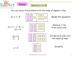 Algebra Tiles Worksheet One Step Equations by Solving Multi Step Equations Ppt Download
