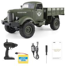 100 4wd Truck JJRC Q61 Transporter RC Car 4WD Military RTR Army Green