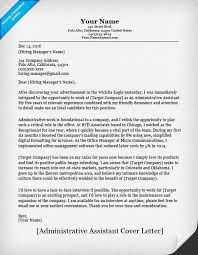 10 Administrative Assistant Cover Letters Samples