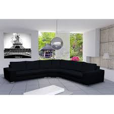 canap d angle 9 places canapé d angle design 6 places cari noir achat vente canapé