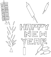 Free Printable Fireworks Coloring Pages New Years Eve
