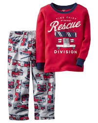 Sleepwear 84544: Carter S 2-Piece Cotton And Fleece Pajamas Fire ...
