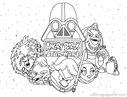 Superb Star Wars Vehicles Coloring Pages Angry Birds With And