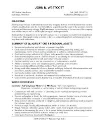 Collection Of Solutions Motorcycle Mechanic Resume Examples Amazing Elevator Technician