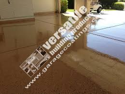 Brown Garage Floor Coating Example
