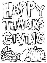 Happy Thanksgiving Printable Coloring Pages Bloomscenter Free Book