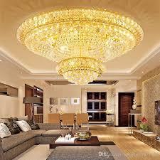 großhandel neue fernbedienung 3 helligkeit kristall licht wohnzimmer len decke runde kristalldeckenleuchten led schlafzimmer restaurant le