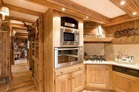 cuisine style chalet décoration intérieur chalet montagne 50 idées inspirantes