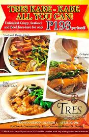 tres cuisine fresh promos tres cuisine february and march promos