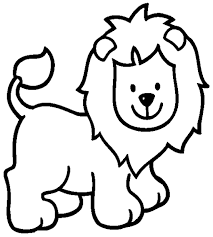 Lion Cartoon Coloring Pages For Kids To Print