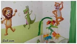 stickers jungle chambre bébé stickers dcoration chambre bb stickers muraux autocollant leroy