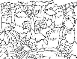 Rainforest Coloring Pages Free Printable Archives With For Kids Download