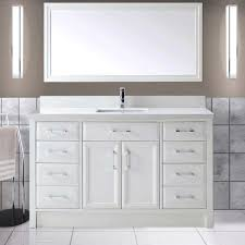 60 Inch Bathroom Vanity Single Sink White by Calais 60