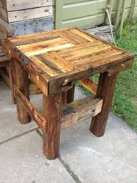 Wooden Pallet End Tables