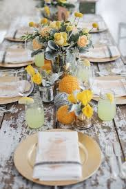 Yellow Rustic Wedding Table Ideasrustic Ideas Country