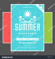 Christmas Tree Shop Flyer by Retro Summer Party Design Poster Flyer Stock Vector 675331264