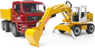 Bruder-MAN-Truck-with-Excavator-4001702027513-BR2751 - Cashflow ... Authentic Bruder Toys Man Telecrane Tc 4500 Crane Truck New In Box Kavanaghs Bruder Mercedes Benz Arocs Crane Truck With Lights Yellow With 360degree Swiveling 02754 Cstruction Tga Castle 02769 Forestry Timber With Loading Amazoncom Man And 3 2 Mack Granite Liebherr Games Truck Franc Jeu Rosemere News 2017 Unboxing Dump Garbage Crane Tgs By Fundamentally