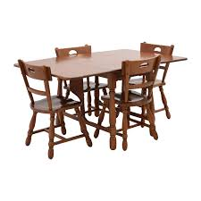 83% OFF - Maple Dining Table With Four Matching Chairs / Tables Ding Room Oldtown Fniture Depot Maple And Suede Chairs Six 19th Century Americana Stick Back A Pair Chair Stock Image Image Of Room Interior 3095949 Brnan 5 Piece Set By Coaster At Michaels Warehouse G0030 W G0010 Glory Hard Rock Table Ideas Maple Ding Tables Grinnaraeco Museum Prestige Solid Wood Port Coquitlam Bc 6 Mid Century Blonde Wood Chairs Dassi Italian Art Deco With Upholstery Paul Mccobb Four Tback For The Planner Group