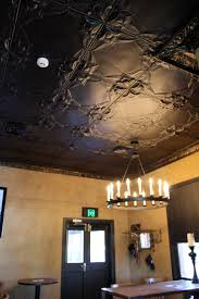 Polystyrene Ceiling Panels South Africa by Pressed Tin Ceiling Add Drama By Painting Panels A Dark Colour