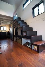 Elegant Minimalist Tiny House On Wheels With Staircase Living