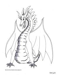 This Dragon Surprised Coloring Pages For Kids Printable Dragons