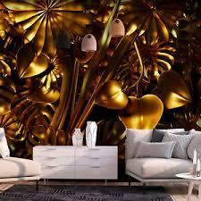 details zu monstera vlies fototapete gold tapeten wand schlafzimmer wohnzimmer abstrakt