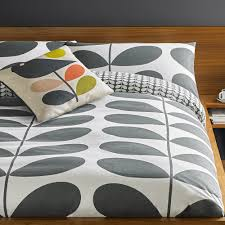 Buy Orla Kiely Giant Stem Flannel Duvet Cover Granite