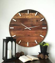 Rustic Wall Clock Oversized Large 31 Inch Wooden Pendulum