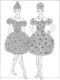 Welcome To Dover Publications Flower Fashion Coloring Book