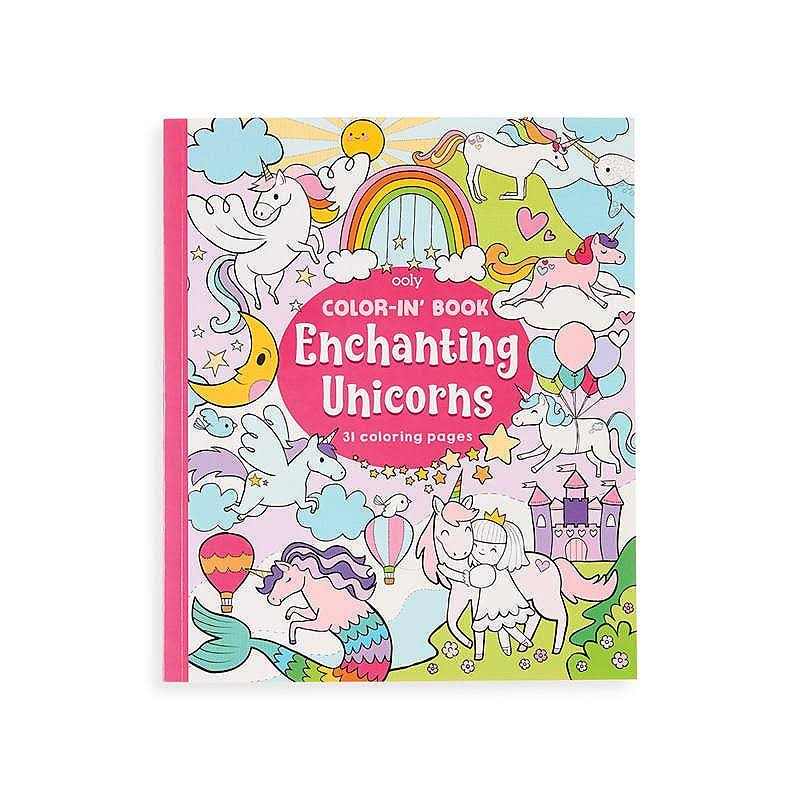 OOLY, Color-In' Book: Enchanting Unicorns