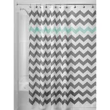 Gray And Teal Bathroom by Amazon Com Interdesign Chevron Shower Curtain 72 X 72 Inch Gray