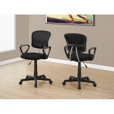 Adrian Mesh Fabric Office Chair In Black Modern Office Chairs