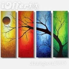 Decoration China Modern Abstract Huge Canvas Art Oil Painting Wall Decor Three Ideas Unique Image Tree Gray Paint Color Living Room